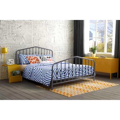 Queen Size Metal Bed Frame w/ Headboard & Footboard