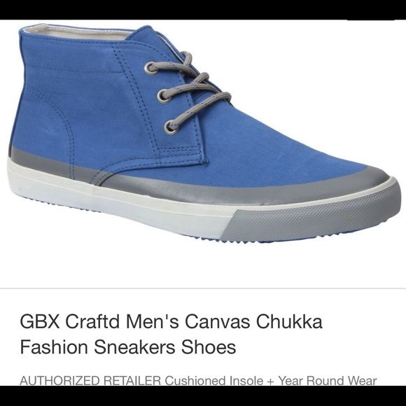 Men's shoes GBX Craftd Men's Canvas Chukka Fashion Sneakers Shoes AUTHORIZED RETAILER Cushioned Insole + Year Round Wear Shoes Sneakers