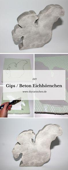 DIY Gips / Beton Eichhörnchen