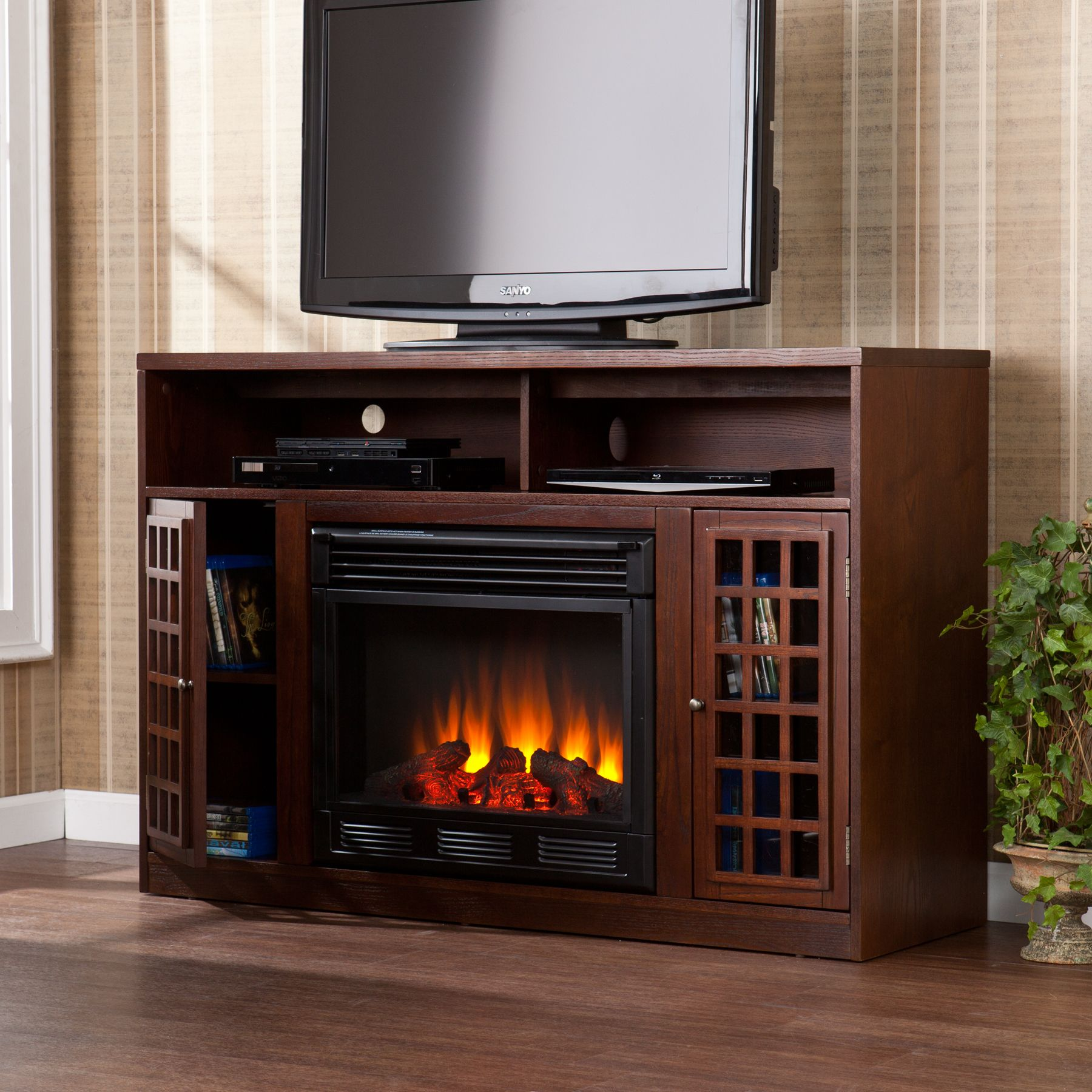 electric fireplace tv stand home ideas pinterest