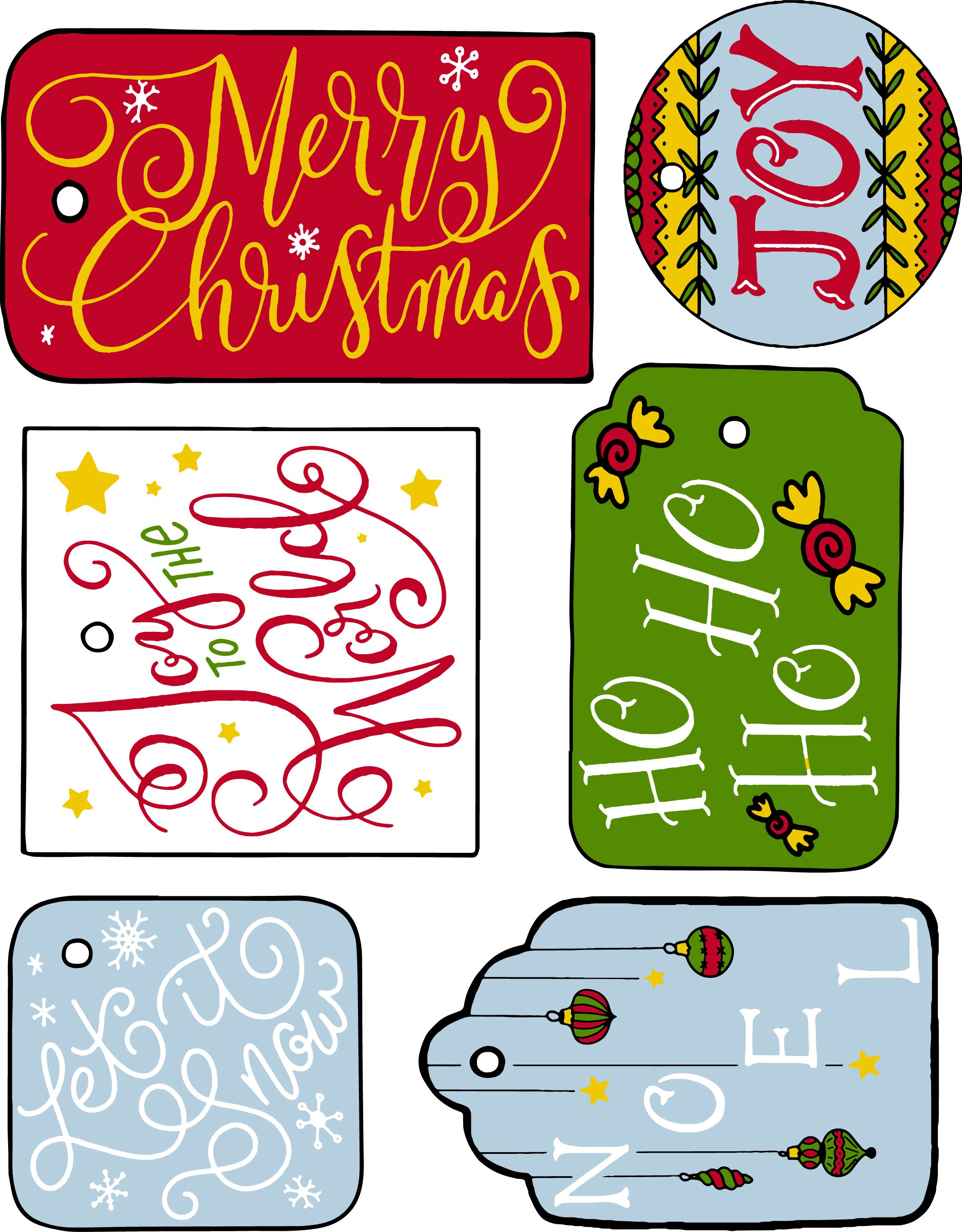 FREE Christmas Printable Gift Tags!!! LOVE LOVE LOVE! (A non-colored ...