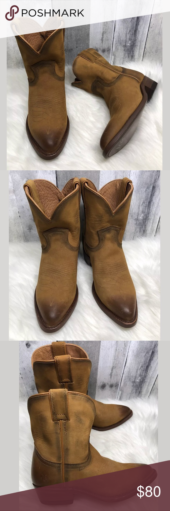 4688e8529e8 NWOT Frye Billy Short Distressed Cowboy Boots $288 New Womens Frye ...