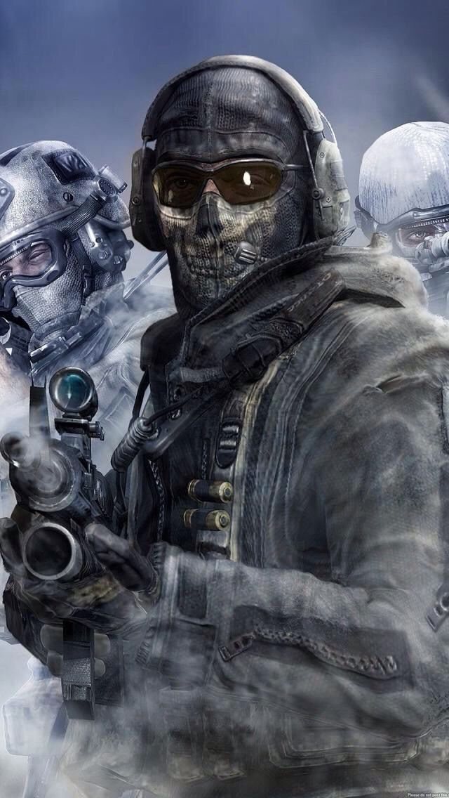 Ghost From Modern Warfare 2 With Images Call Of Duty Black