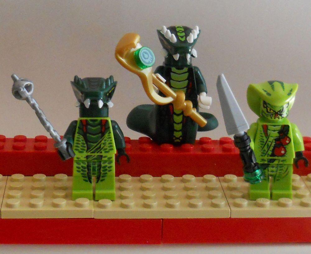 Lot of 3 Lego Ninjago Green Snakes new