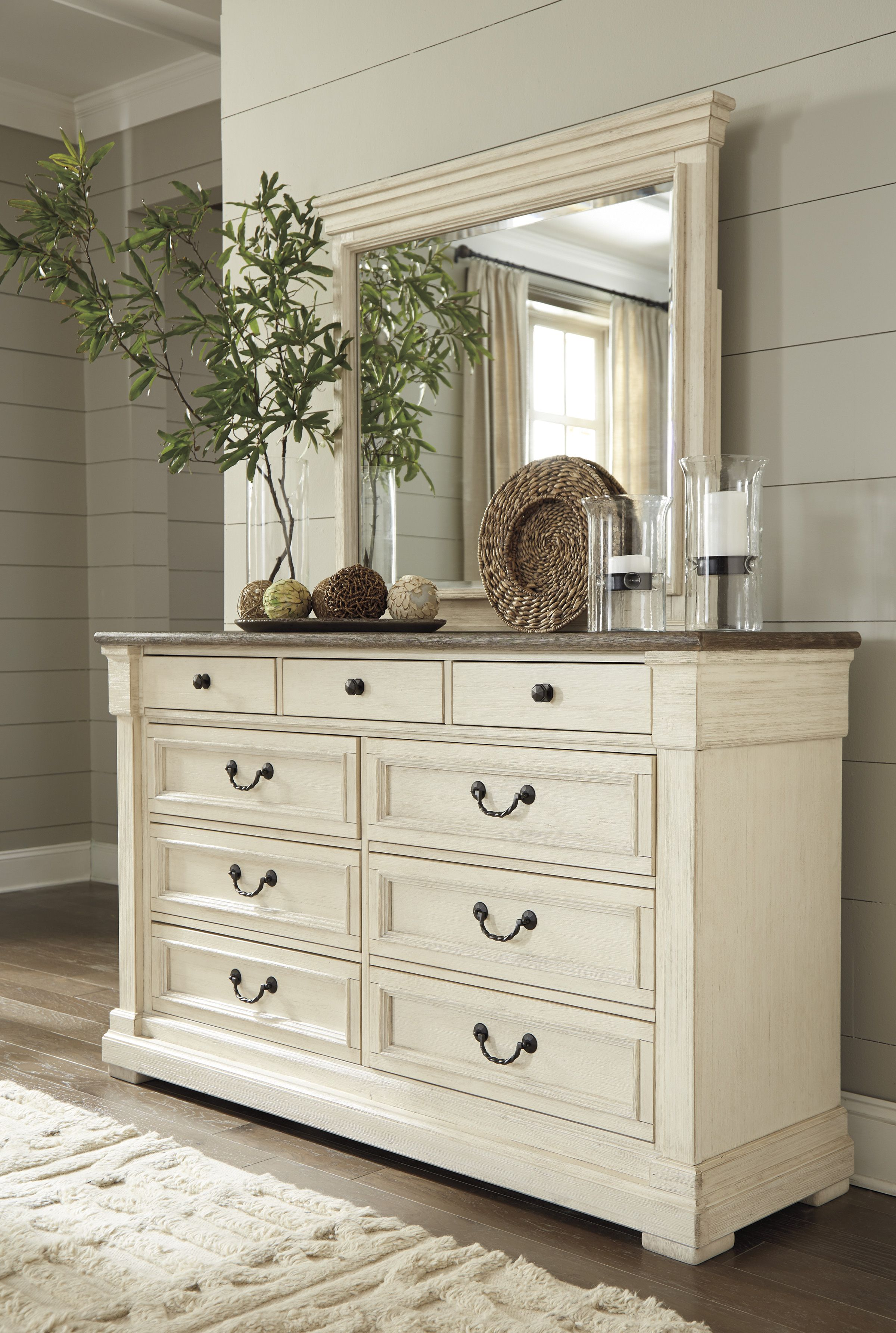 Bolanburg Dresser and Mirror Shabby chic bedrooms