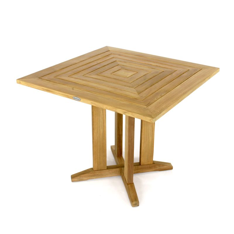 36 Inch Pyramid Square Teak Dining Table Dining Table
