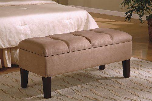 Amazon.com: Contemporary Button-Tufted Design Storage Bench: Furniture & Decor