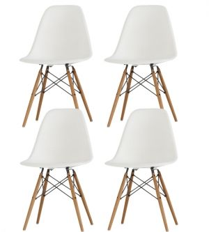 4 chaises dsw - charles eames - chaises design - meubles & design ... - Chaise Dsw Charles Eames