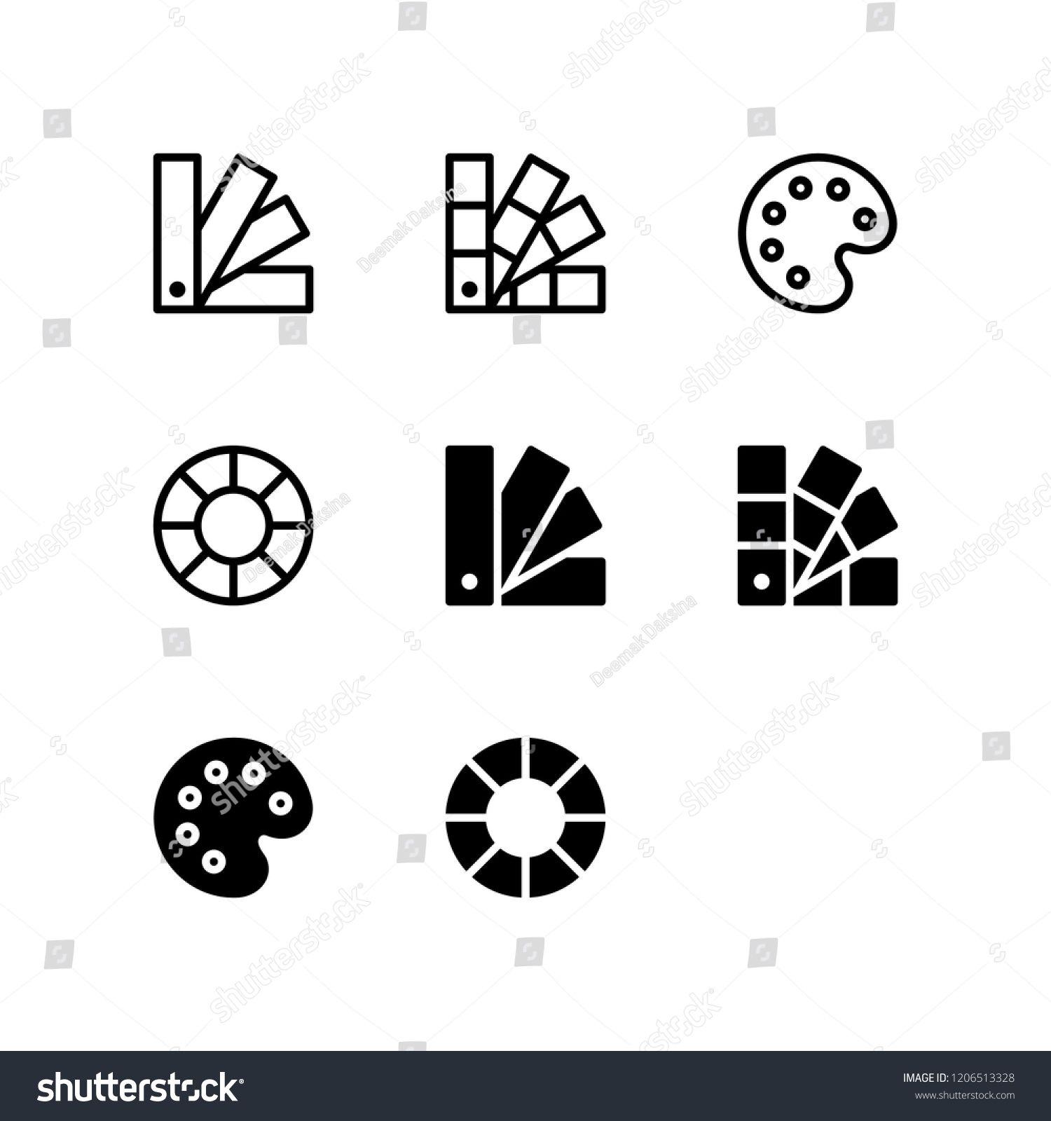 Color Palette Icon Design. palette, color palette, color