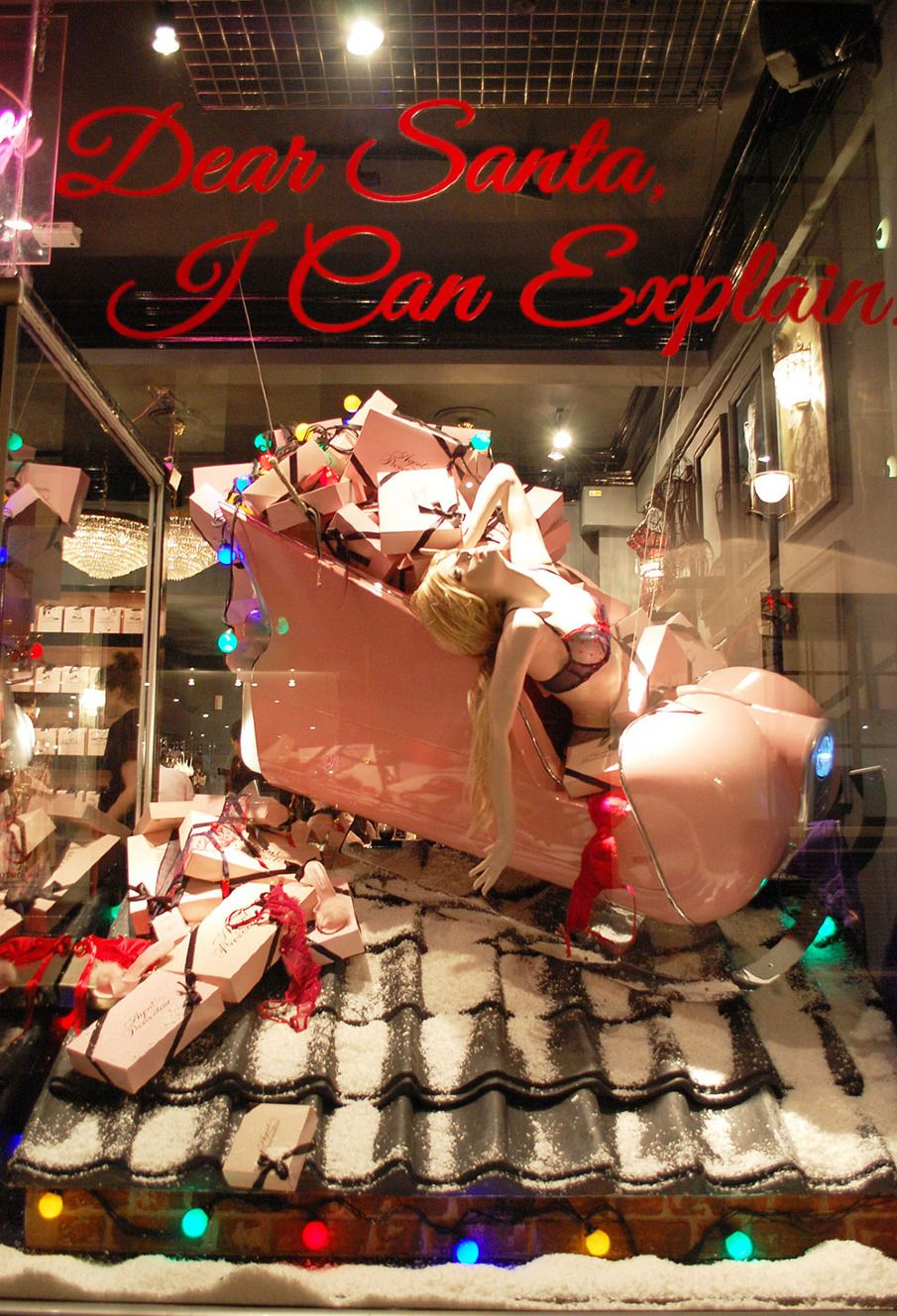 While Agent Provocateur's window is a cleaver use of mannequin and prop.