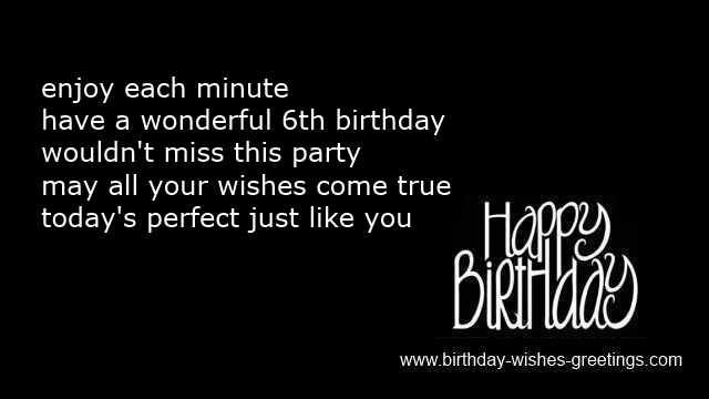 6th birthday poems and wishes sixth bday boys & girls greetings