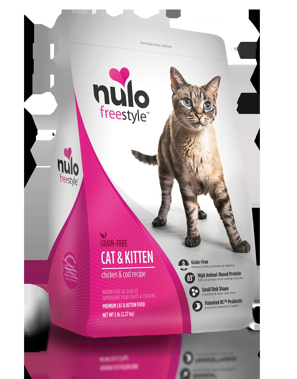 Freestyle Cat Kitten Chicken Cod Recipe Nulo Pet Food Kitten Food Dry Cat Food Cat Food
