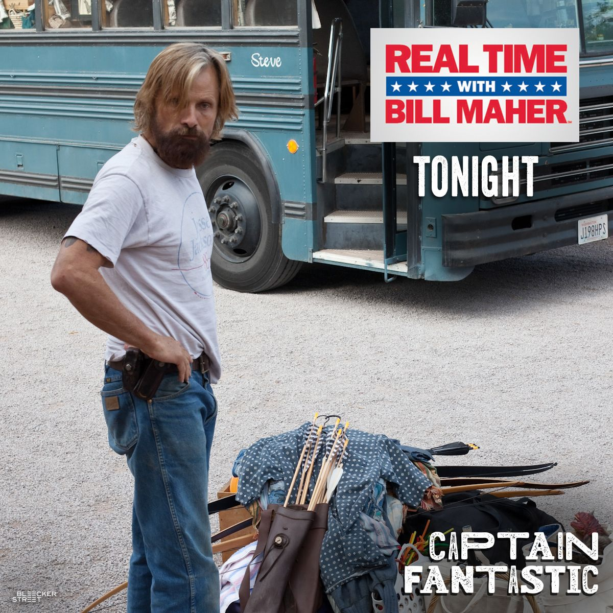 """Things are about to get real with #ViggoMortensen. Don't miss Viggo on """"Real Time with Bill Maher"""" tonight to discuss #CaptainFantastic."""