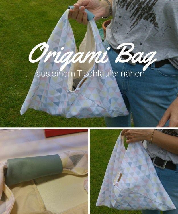 origami bag eine schnell gen hte tasche selbst gen ht meine n hanleitungen free tutorials. Black Bedroom Furniture Sets. Home Design Ideas