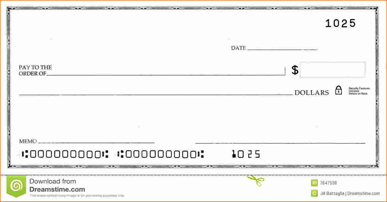 Blank Business Check Template Business Checks Word Check Blank