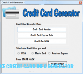 What Makes Fake Credit Card Info Generator So Addictive That You