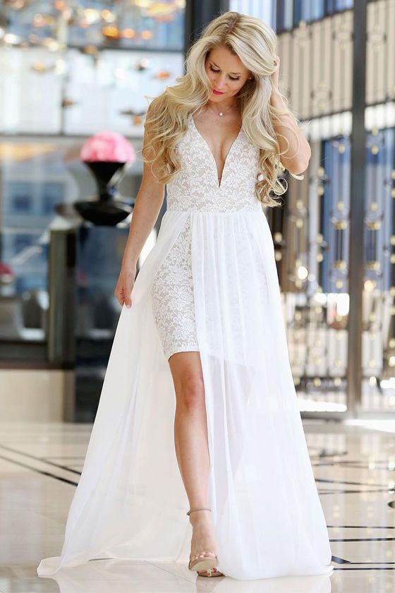 Make Way For Wonderful Off White Lace Maxi Dress Wedding Attire