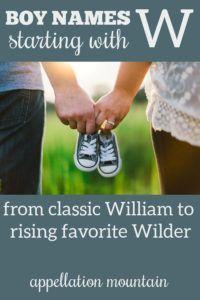 Boy Names Starting with W: Wyatt, Walker, Wilfred ...