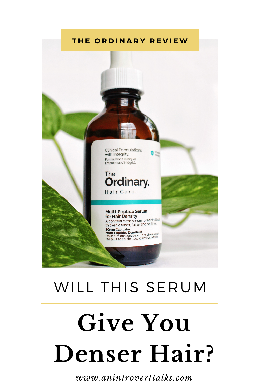 Will The Ordinary S Multi Peptide Serum Increase Hair Density In 2020 Peptide Serum Hair Density Peptides