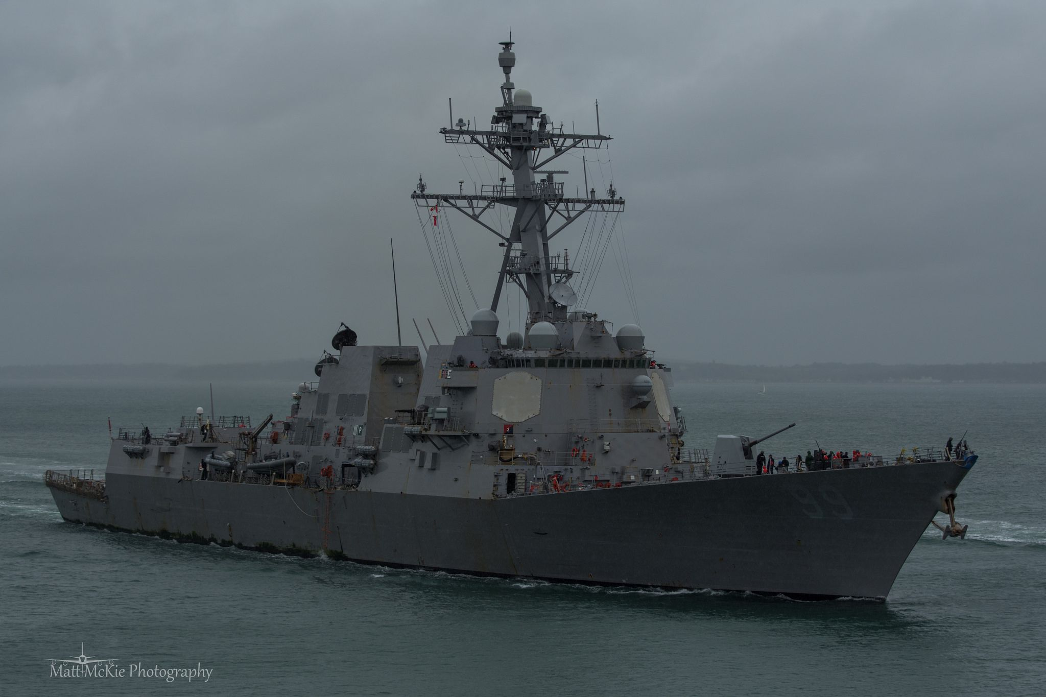 LAMINATED POSTER The U.S. Navy guided missile destroyer