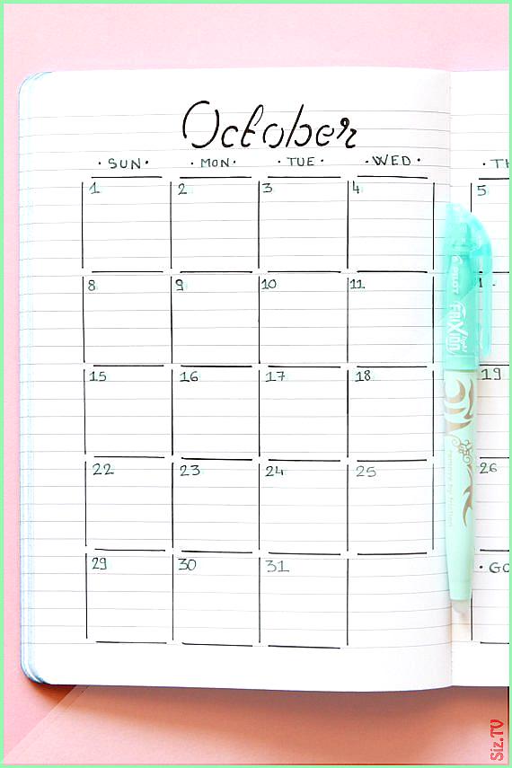 Pochoir calendrier mensuel pour Bullet journal et planner Pochoir de mise en page mensuel Pochoir tr...