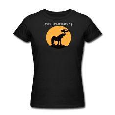 Schwarz Pferd auf Misthaufen T-Shirts