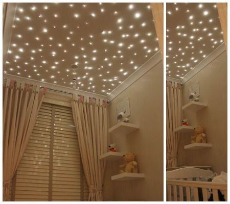 Tendncias na decorao de quarto de beb disney babies nursery the starry night glow in the dark decals are perfect for the ceiling this trend of decorating on the ceiling is so inspiring and such a new idea aloadofball Images