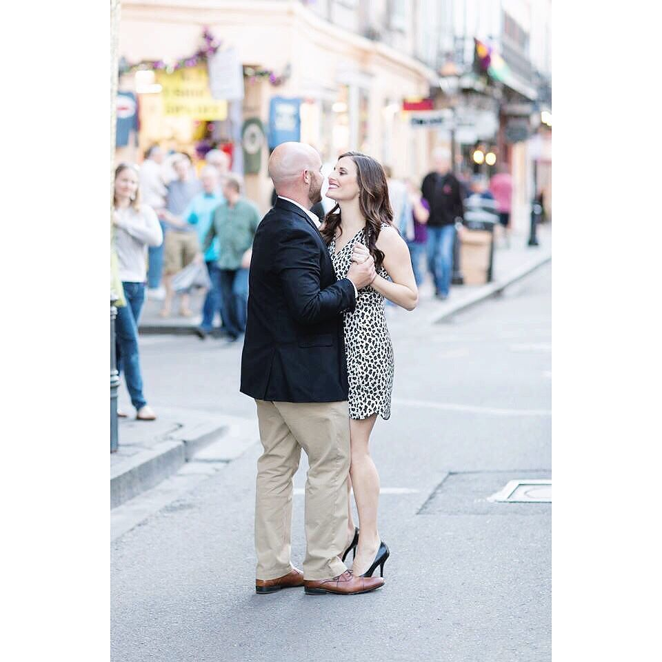 Nothing wrong with a little dancing in the street. Hair by @rachk86 #sampluschris #neworleansweddingphotographer #wedding #engaged #engagement #louisianaweddingphotographer #luxuaryweddings #destinationweddingphotographer #frenchquarter #vieuxcarré  #dancing #love #bliss by samanthacrayon