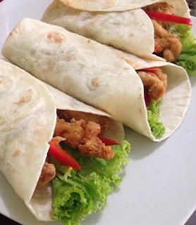 Crispy Chicken Wrap Resep Masakan India Resep Makanan Sehat Resep Makanan