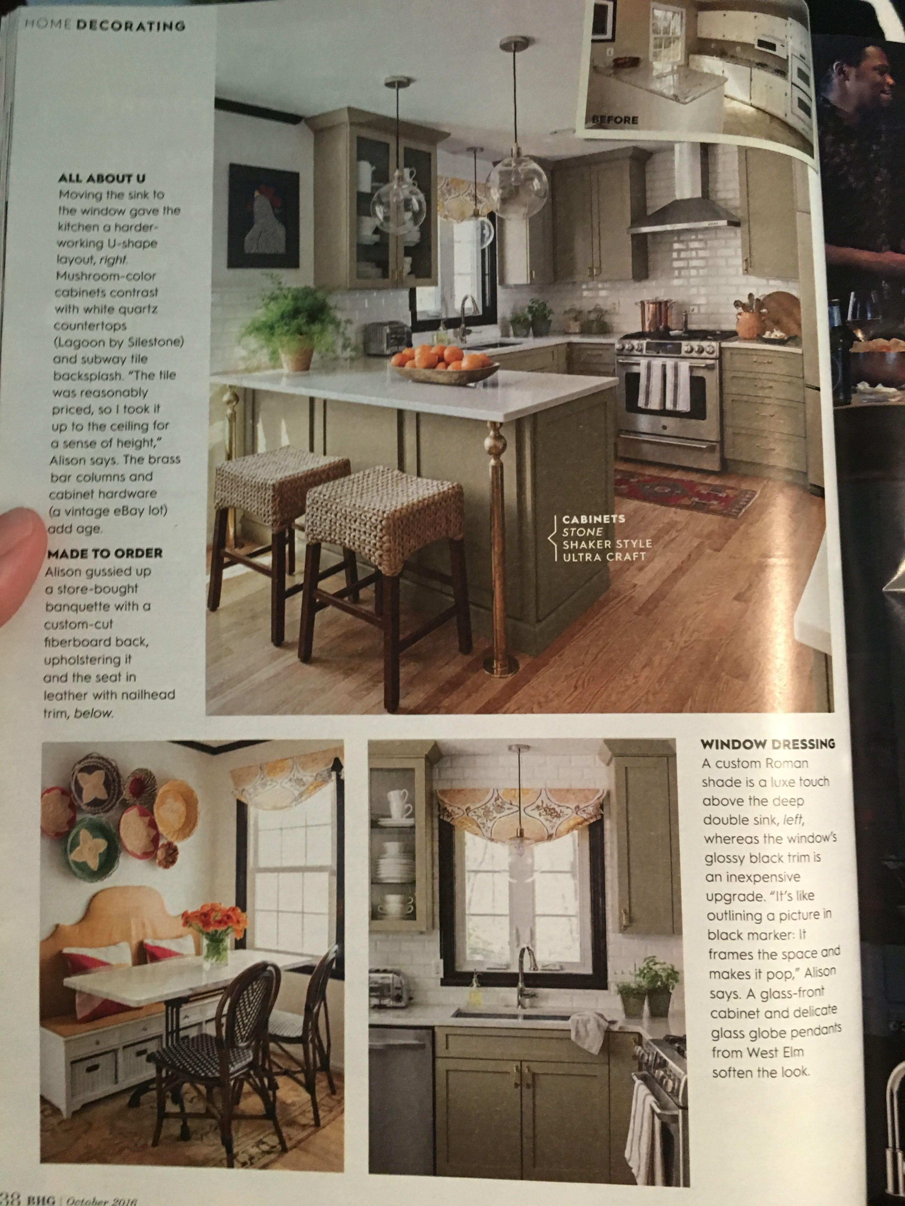 BHG October 2016. My perfect kitchen.
