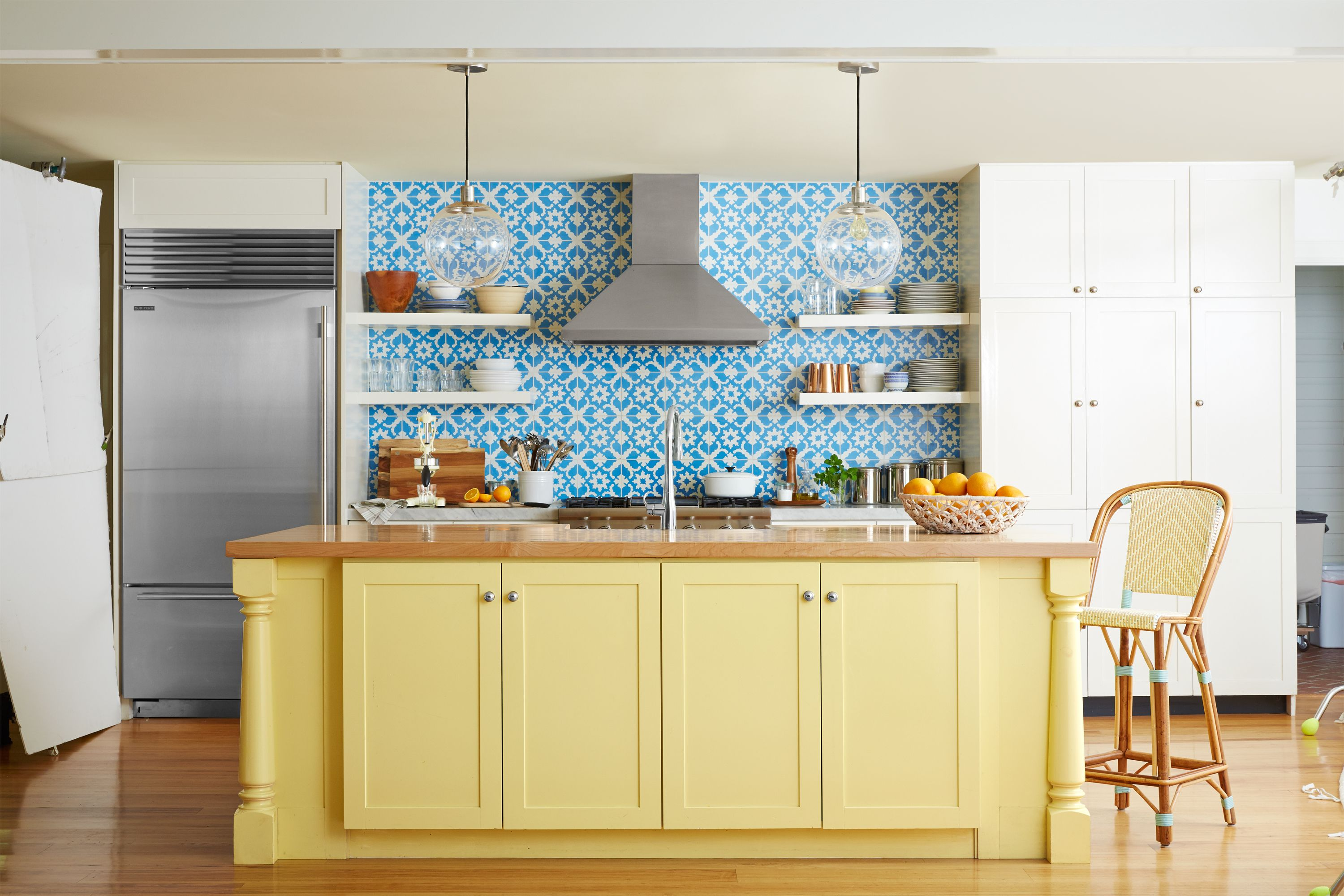 15+ Ways to Add Color to Your Kitchen | Blue tiles, Kitchens and ...