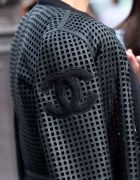CHANEL PERFORATED LEATHER JACKET