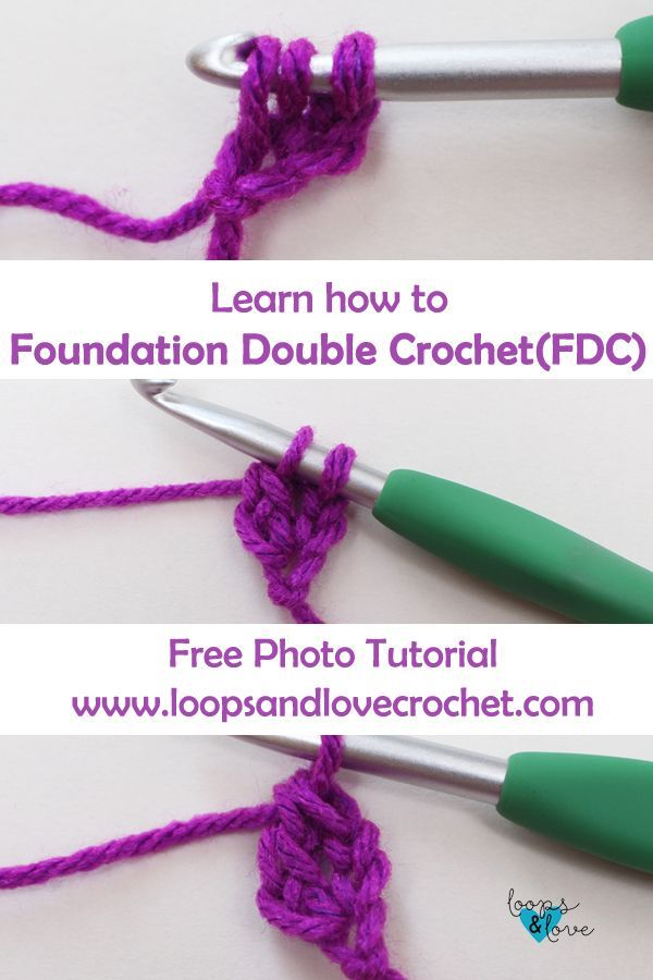 How to Foundation Double Crochet (FDC | crochets | Pinterest | Patrones