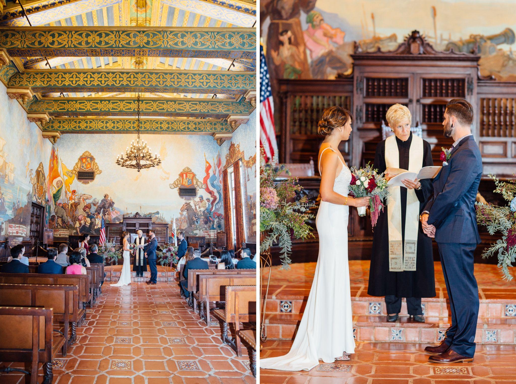 The Delaruas Santa Barbara Courthouse Wedding Santa Barbara Courthouse Wedding Courthouse Wedding Dress Santa Barbara Courthouse