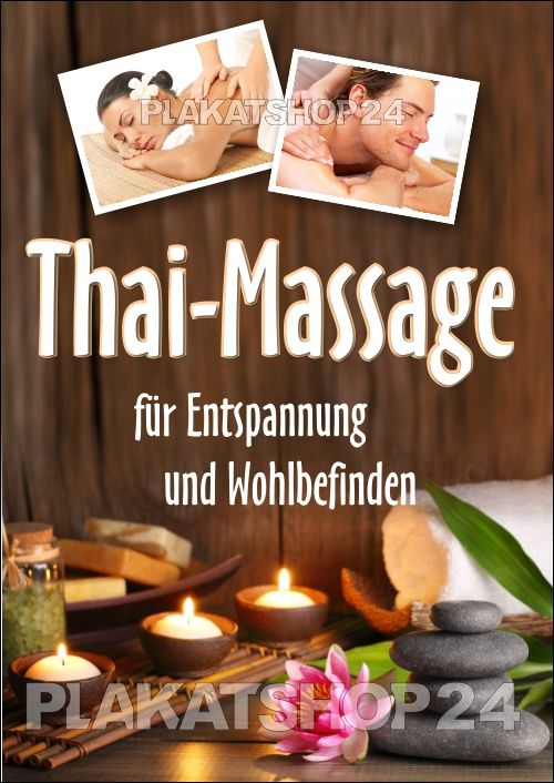 Thaimassage Plakat Fur Thaimassage Werbung Massage Thaimassage Massage Gutschein