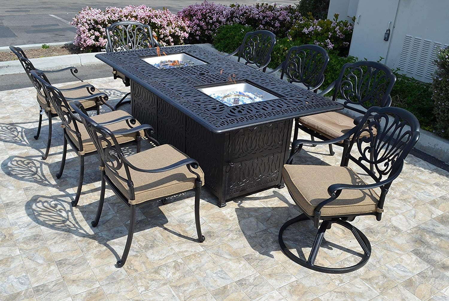 25+ Propane fire pit dining table and chairs Best Seller
