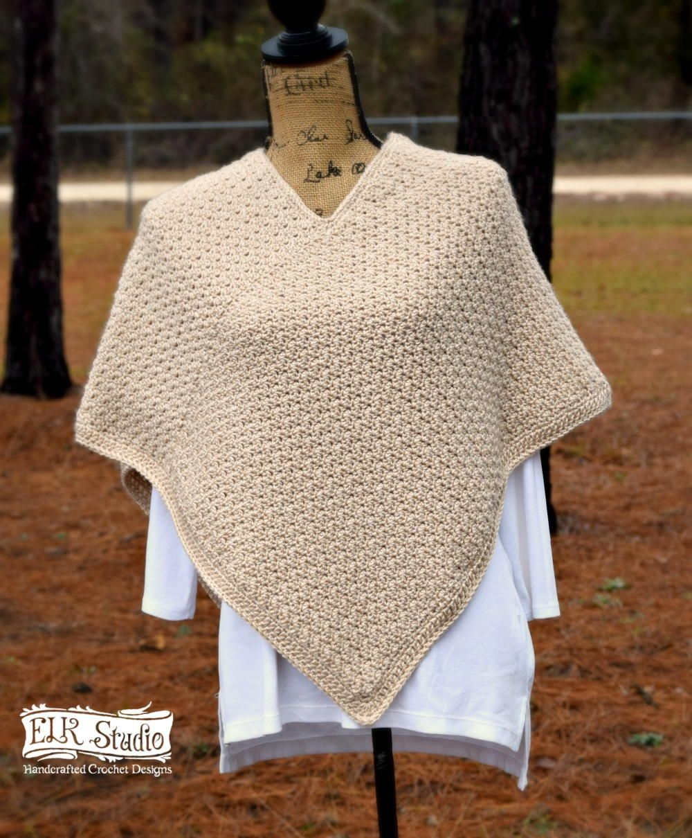 Have you ever made a poncho using 2 rectangles? I never had and ...