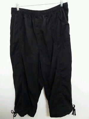 Dress Barn Woman Plus Capris Black Size 3X | eBay | Pants ...