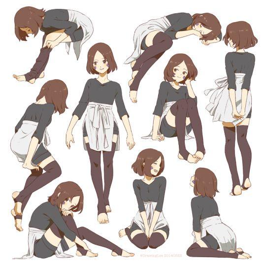 Cute Pose Reference Girl Short Hair Anime Art Character Art Character Design References Sketches
