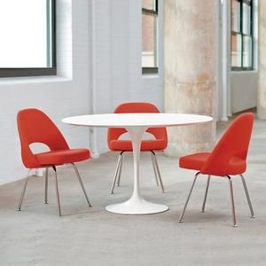 dining, side and coffee tables by eero saarinen for knoll