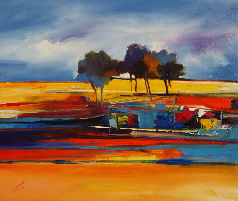 Guruve gallery painting by african artist charles nkomo