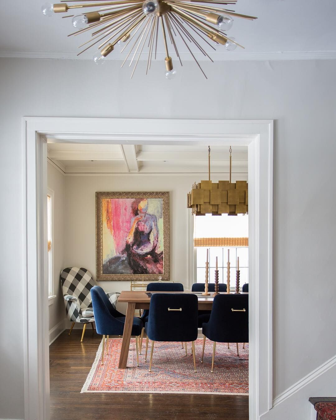 Houzz On Instagram Combining Navy Brass And Eclectic Touches