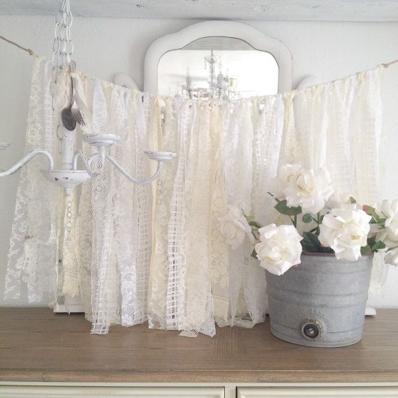 lace wedding garland shabby chic decor diy by denadanielledesigns, Baby shower invitation