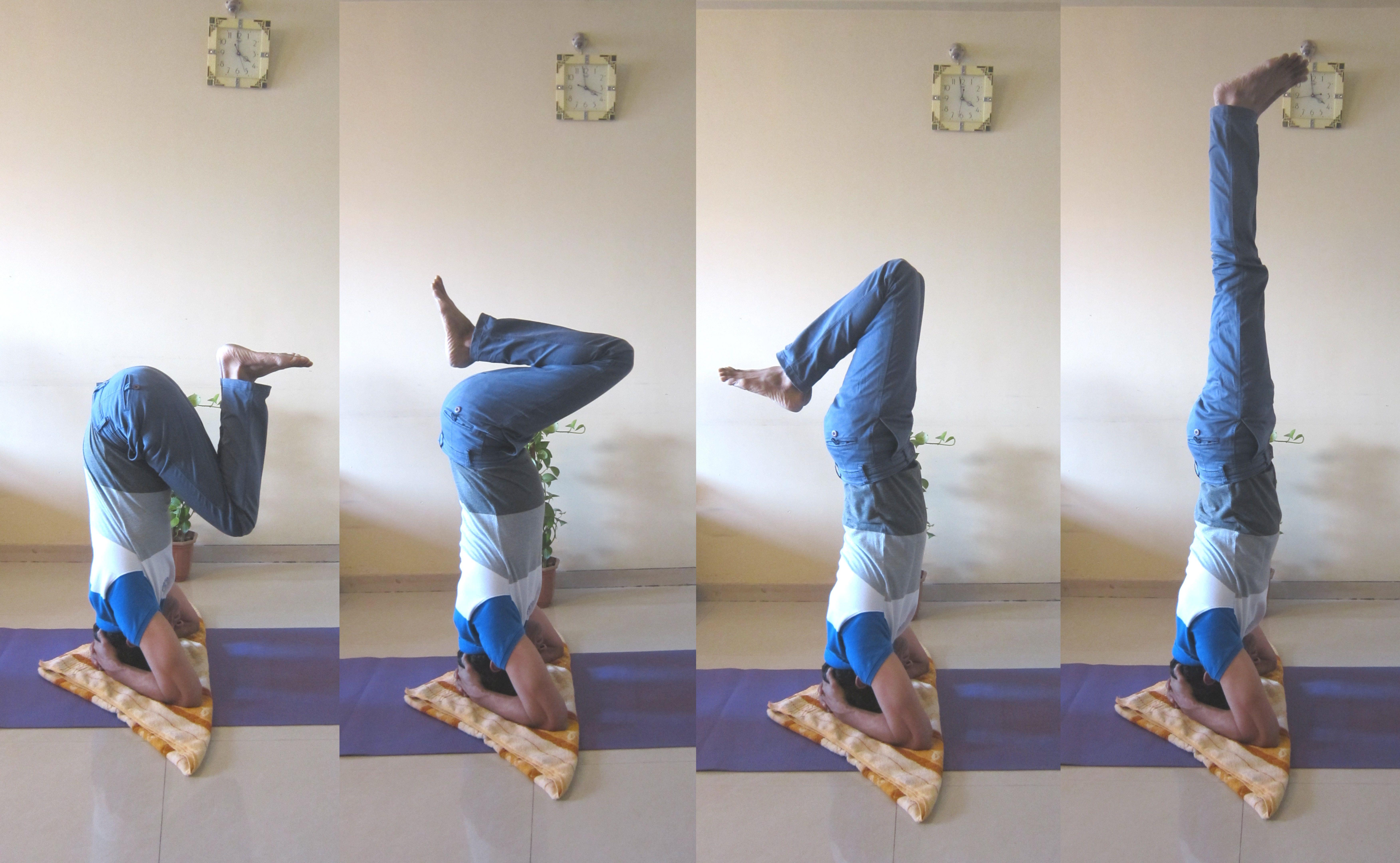 Me doing King of Asana - Shirshasana.   Fitness Trainer ...