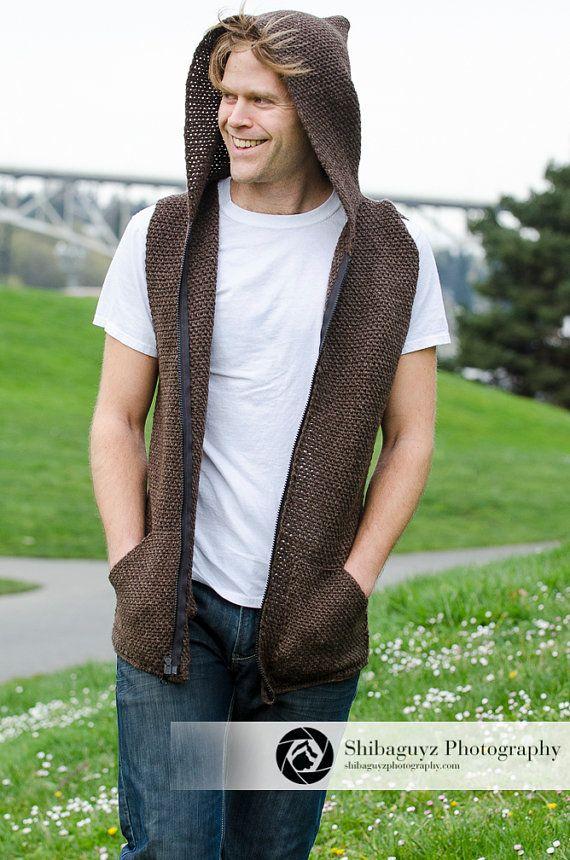 Hooded Vest Crochet  9dacf9140cf