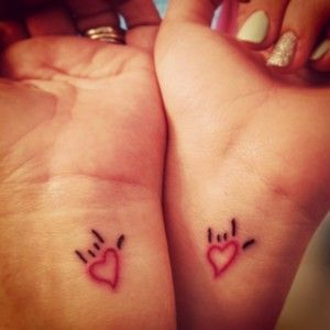 Cute matching tattoos for lesbian couples