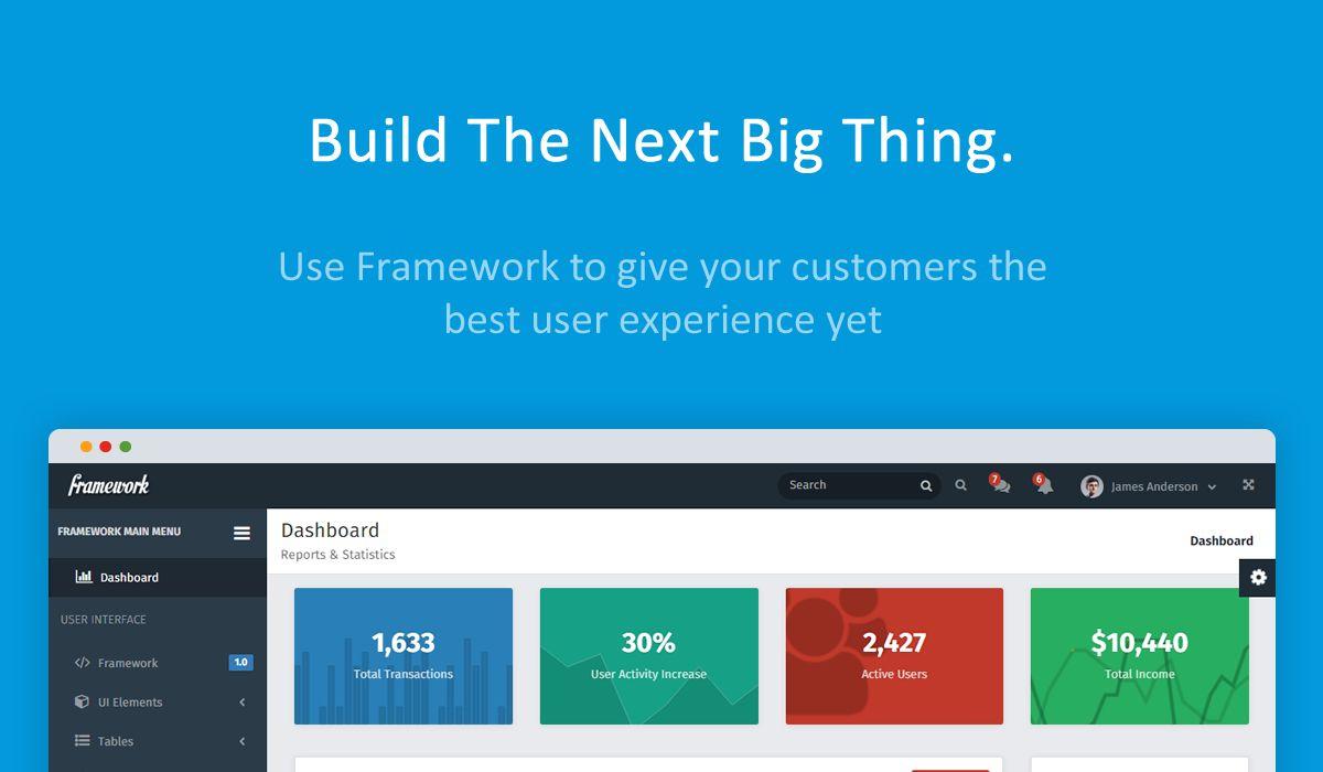 Framework - Responsive Bootstrap Admin Template (Admin Templates ...