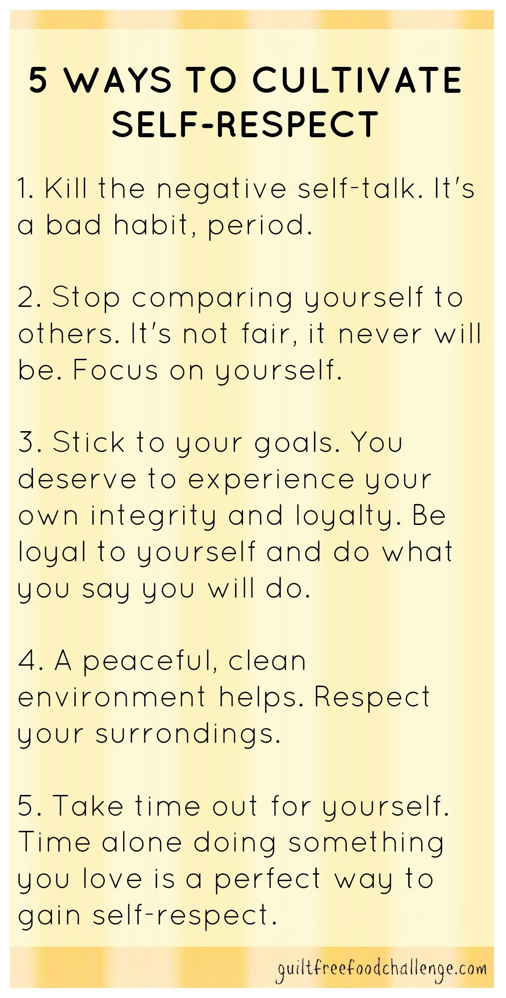 importance of self respect essay