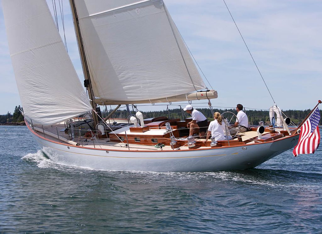 ANNA Designed Sparkman  Stephens LOA 1707 meters beam 396 - boat bill of sale