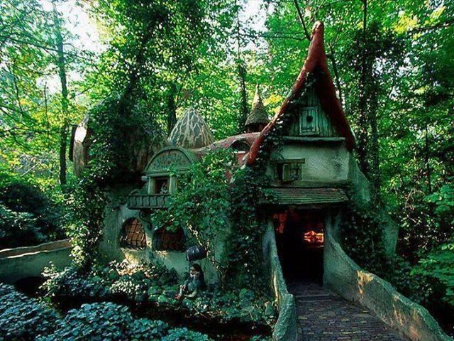 forest house in Efteling, Holland